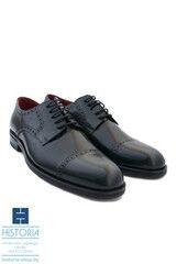 Обувь мужская HISTORIA Мужские туфли дерби черные на двойной кожаной подошве