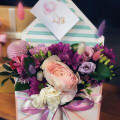 Магазин цветов Кошык кветак Букет - композиция в конверте №1