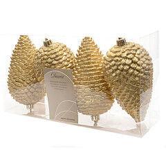 Елка и украшение mb déco Елочные игрушки «Шишки» с блестками, золото