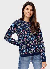 Кофта, блузка, футболка женская O'stin Толстовка в цветочный принт LT4T82-68
