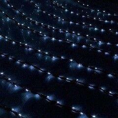 Елка и украшение Eurotrading Гирлянда синяя «Дождь» уличная, 2х3 м