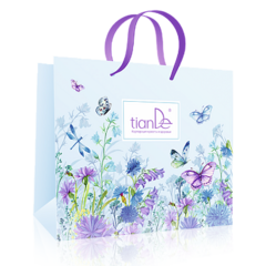 Подарок tianDe Пакет бумажный «Бабочки в цветах»