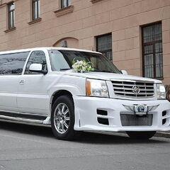 Прокат авто Прокат лимузина Cadillac Escalade белого цвета
