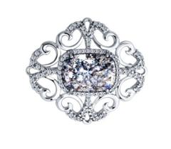 Ювелирный салон Sokolov Брошь из серебра с кристаллом Swarovski и фианитами 94040101