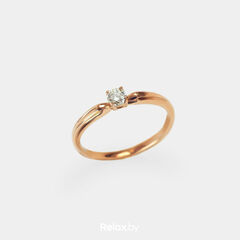 Ювелирный салон Белорусские Бриллианты Кольцо из золота со вставкой бриллиант синт. 21010030