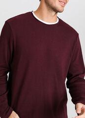 Кофта, рубашка, футболка мужская O'stin Джемпер мужской с горловиной-обманкой MT4V54-V7