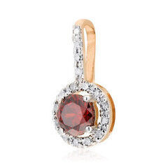 Ювелирный салон Jeweller Karat Подвеска золотая с бриллиантами и гранатом арт. 1234652