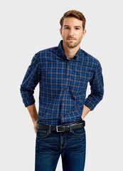 Кофта, рубашка, футболка мужская O'stin Рубашка из твила в клетку MS1T74-69