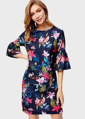Платье женское O'stin Платье с тропическим принтом LT1S86-68