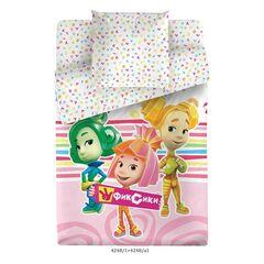Подарок Торговый дом С Текстиль Детский комплект белья 1.5 сп. Фиксики - 4248-1+4248а-1 Фикси-Девочки