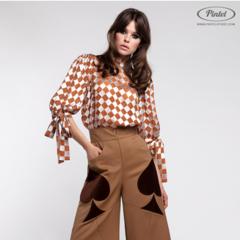 Костюм женский Pintel™ Комплект из блузы и брюк Akseli