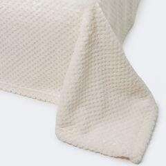 Подарок Ecotex Декоративный флисовый плед 150х200 Elegance Кремовый