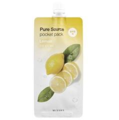 Уход за лицом Missha Маска для лица Pure Source с экстрактом лимона