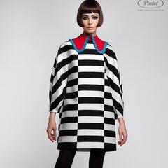 Платье женское Pintel™ Контрастное оп-арт мини-платье свободного силуэта Davia