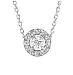 Ювелирный салон ZORKA Колье из серебра с фианитами 0550023