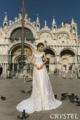 Свадебное платье напрокат А-силуэт Bonjour Платье свадебное Crystel из коллекции La Douceur