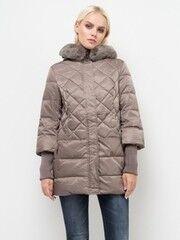 Верхняя одежда женская Sela Куртка женская Cd-126/1009-7412 темно-бежевая