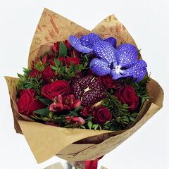 Магазин цветов Долина цветов Букет «Гранатовая ночь»