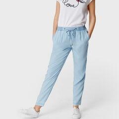 Брюки женские O'stin Свободные брюки из денима LP4S83-D4