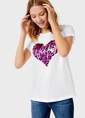 Кофта, блузка, футболка женская O'stin Футболка с принтом LT4UB2-01