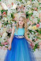 """Вечернее платье ALIZA Платье """"Бирюзово-синее"""""""