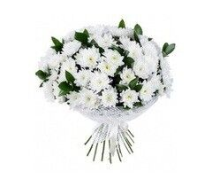 Магазин цветов Долина цветов Букет «Белые хризантемы»