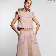 Костюм женский Pintel™ Спортивный костюм из эластичного фактурного хлопка  Saijen