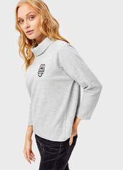 Кофта, блузка, футболка женская O'stin Джемпер с широким воротником LT4T83-95
