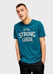 Кофта, рубашка, футболка мужская O'stin Футболка с аппликацией MT1U45-N8