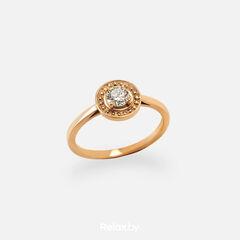 Ювелирный салон Белорусские Бриллианты Кольцо из золота со вставкой бриллиант синт. 21010013