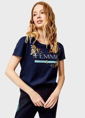 Кофта, блузка, футболка женская O'stin Футболка с принтом LT4U36-68