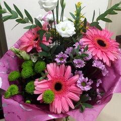 Магазин цветов Прекрасная садовница Букет с герберой и хризантемой