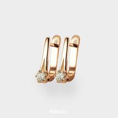Ювелирный салон Белорусские Бриллианты Серьги из золота со вставкой бриллиант синт. 31010012