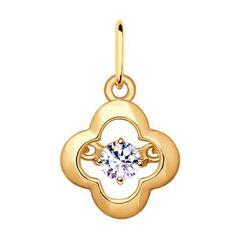 Ювелирный салон Sokolov Подвеска из золочёного серебра с фианитом 93030375