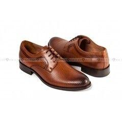 Обувь мужская Keyman Туфли мужские дерби рыжие с декоративной фактурой
