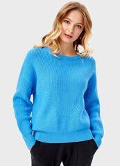 Кофта, блузка, футболка женская O'stin Однoтонный джемпер LK4T8C-65