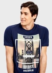 Кофта, рубашка, футболка мужская O'stin Футболка с фотопринтом MT4T35-69