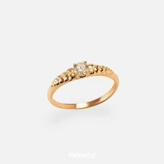 Ювелирный салон Белорусские Бриллианты Кольцо из золота со вставкой бриллиант синт. 21010027