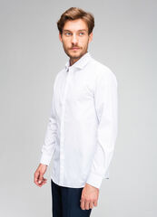 Кофта, рубашка, футболка мужская O'stin Рубашка из структурной ткани с микрорисунком MS1V44-92