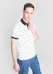 Кофта, рубашка, футболка мужская O'stin Рубашка-поло с животным микропринтом MT4W76-00