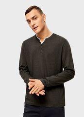Кофта, рубашка, футболка мужская O'stin Футболка с вырезом «хенли» MT4U11-G8