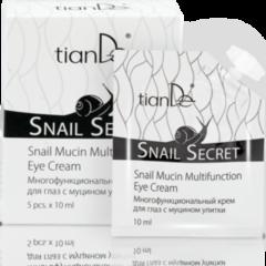 Уход за лицом tianDe Многофункциональный крем для глаз с муцином улитки Snail Secret
