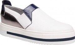 Обувь женская Ekonika 2 Слипоны женские 1065-02 white, blue, nikel