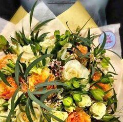 Магазин цветов Прекрасная садовница Букет в персиковых тонах