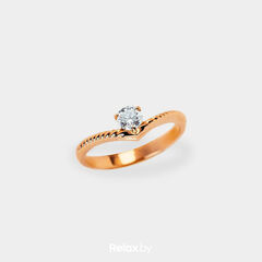 Ювелирный салон Белорусские Бриллианты Кольцо из золота со вставкой бриллиант синт. 21010037
