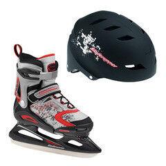 Коньки Bladerunner Детские ледовые коньки Micro Ice Combo black/red