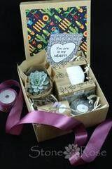 Магазин цветов Stone Rose Набор №1 для посадки суккулента «Ко Дню всех влюбленных»