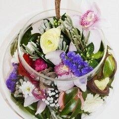 Магазин цветов Планета цветов Цветочная композиция в стекле №8