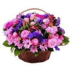 Магазин цветов LION Сиреневая корзинка