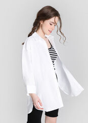 Кофта, блузка, футболка женская O'stin Свободная рубашка с принтом сзади LS2W81-00